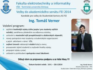 Fakulta elektrotechniky a informatiky VŠB - Technická univerzita Ostrava