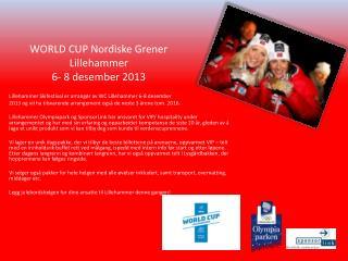 Lillehammer Skifestival er arrangør av WC Lillehammer 6-8 desember