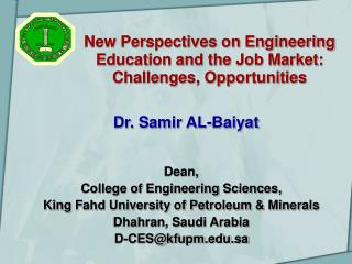 New Perspectives on Engineering Education and the Job Market:  Challenges, Opportunities