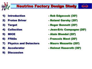 Neutrino Factory Design Study