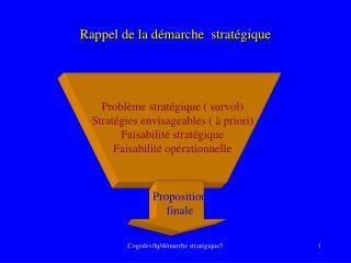 Rappel de la d�marche  strat�gique