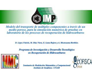D. López Falcón, M. Díaz Viera, E. Luna Rojero y A. Moctezuma Berthier.