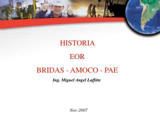 HISTORIA  EOR  BRIDAS - AMOCO - PAE