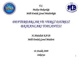 T.C. Maliye Bakanlığı Milli Emlak Genel Müdürlüğü