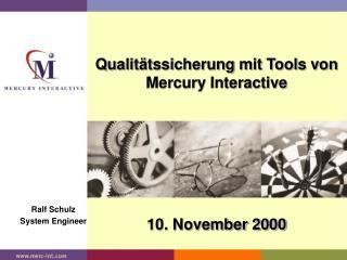 Qualitätssicherung mit Tools von Mercury Interactive