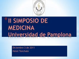 II SIMPOSIO DE MEDICINA Universidad de Pamplona