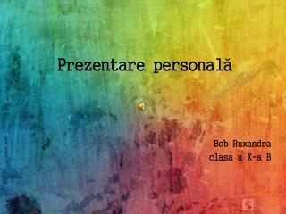 Prezentare personală