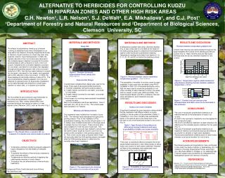 ALTERNATIVE TO HERBICIDES FOR CONTROLLING KUDZU  IN RIPARIAN ZONES AND OTHER HIGH RISK AREAS