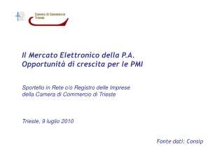 Il Mercato Elettronico della P.A. Opportunità di crescita per le PMI