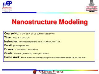 Nanostructure Modeling