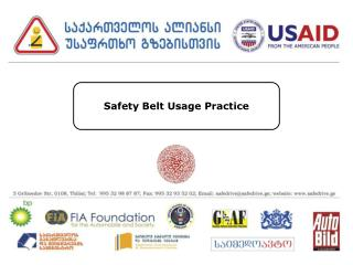Safety Belt Usage Practice