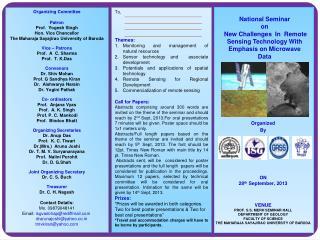 Organizing Committee Patron Prof.   Yogesh  Singh Hon. Vice Chancellor