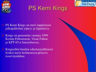 PS Kemi Kings