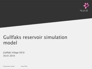 Gullfaks reservoir simulation model
