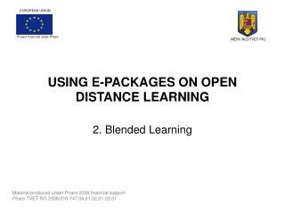 USING E-PACKAGES ON OPEN DISTANCE LEARNING