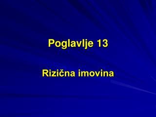 Poglavlje 13