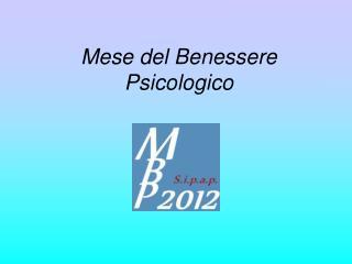 Mese del Benessere Psicologico