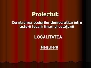 Proiectul: