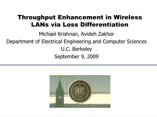 Throughput Enhancement in Wireless LANs via Loss Differentiation