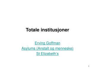 Totale institusjoner