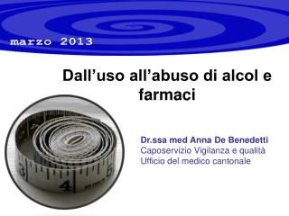 Dall'uso all'abuso di alcol e farmaci