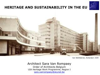 HERITAGE AND SUSTAINABILITY IN THE EU