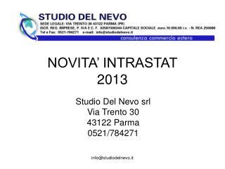 NOVITA' INTRASTAT 2013