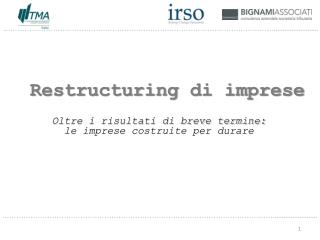 Restructuring  di imprese