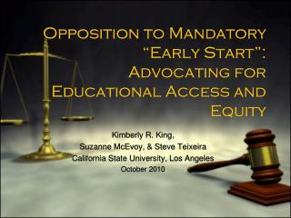 "Opposition to Mandatory  ""Early Start"": Advocating for Educational Access and Equity"