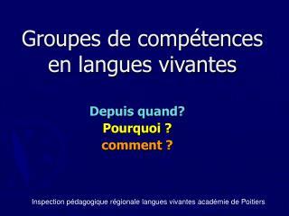Groupes de comp tences en langues vivantes