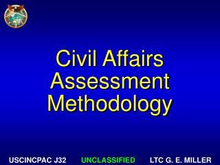 Civil Affairs Assessment Methodology