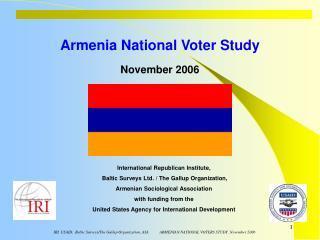 Armenia National Voter Study