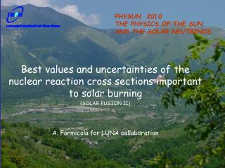 Best values and uncertainties of the nuclear reaction cross sections important to solar burning