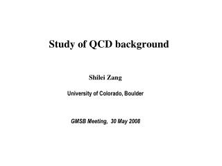 Study of QCD background