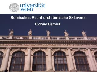 R�misches Recht und r�mische Sklaverei