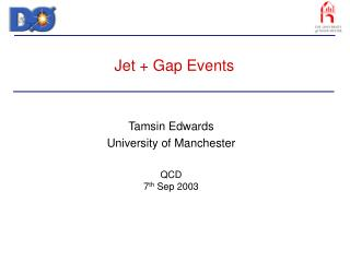 Jet + Gap Events