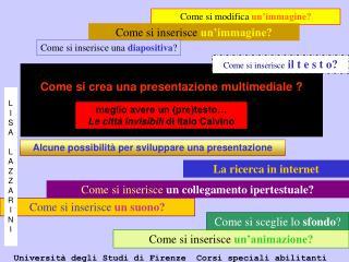 Come si crea una presentazione multimediale ?
