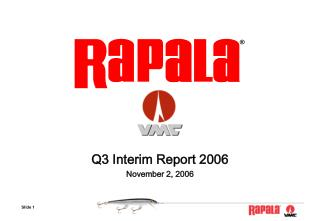 Q3 Interim Report 2006 November 2, 2006