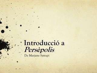 Introducció  a  Persèpolis