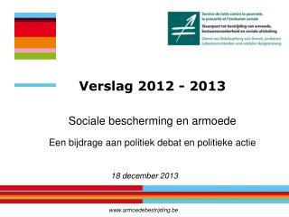 Sociale bescherming  en  armoede Een bijdrage aan politiek debat  en  politieke actie