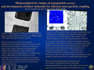 Photoconductivity studies of nanoparticle arrays