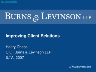 Improving Client Relations