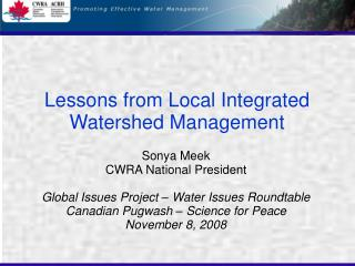 Lessons from Local Integrated Watershed Management