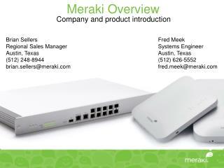 Meraki Overview
