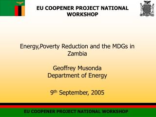 EU COOPENER PROJECT NATIONAL WORKSHOP
