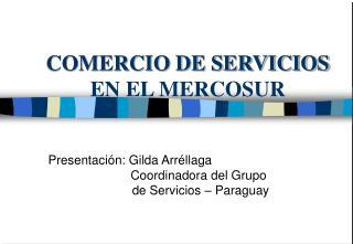 COMERCIO DE SERVICIOS EN EL MERCOSUR