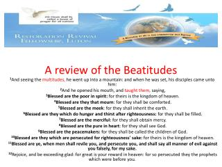 A review of the Beatitudes