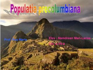 Populatia precolumbiana