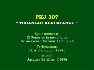 PKJ 307