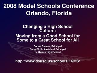 2008 Model Schools Conference  Orlando, Florida